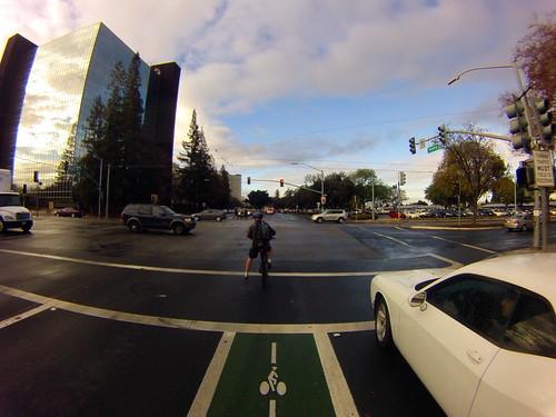 Green bike lane Hedding Street