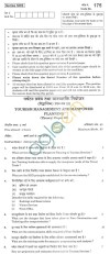 CBSE Board Exam 2013 Class XII Question Paper -Tourism Management And Manpower