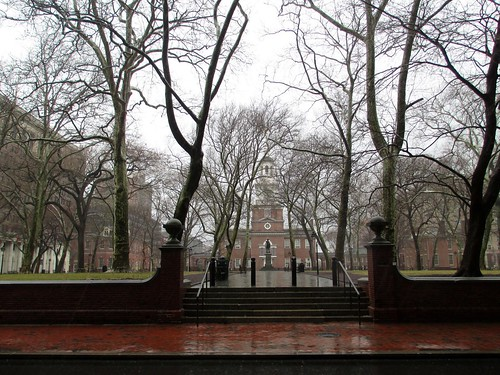 Independence Hall in Philadelphia, Pa. Can You See How Wet it Is? March 29, 2014