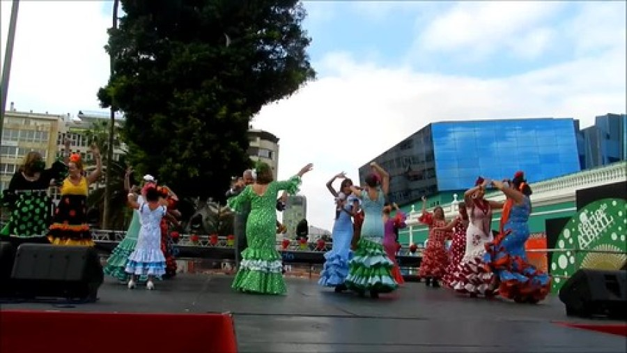 VII Feria abril Las Palmas ambiente en el ferial video 07