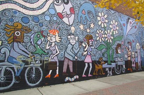 The art wall in Ferndale