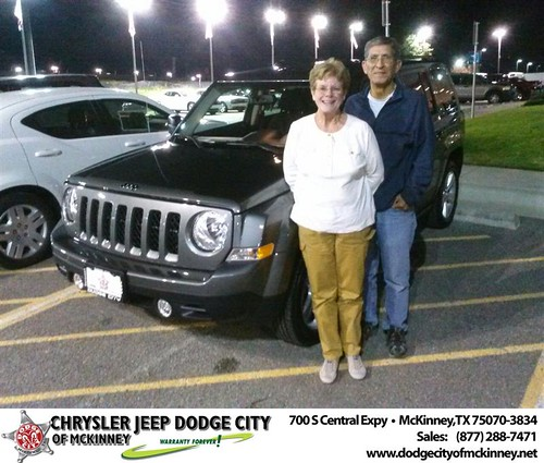 Thank you to Julian Ramirez on your new 2014 #Jeep #Patriot from David Walls and everyone at Dodge City of McKinney! #NewCarSmell by Dodge City McKinney Texas