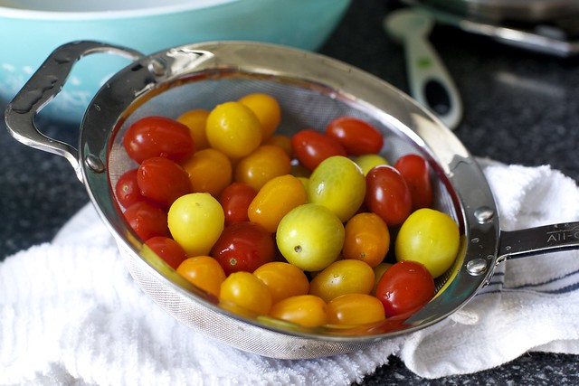 a pretty mix of tiny tomatoes