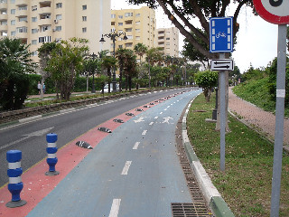 Estepona two-way lane
