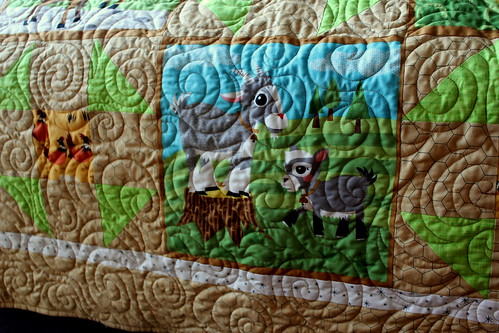 20131110. Baby quilt from Grandma Lynn.