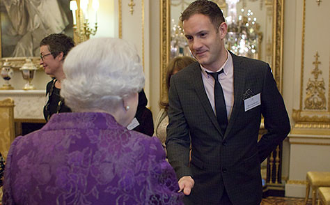 James Draper and Queen Elizabeth II