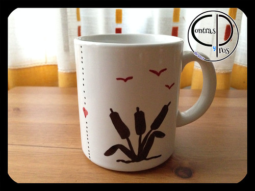 Decorar decorar tazas DIY con rotulador permanente_1