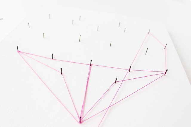 DIY geometric heart string art 10