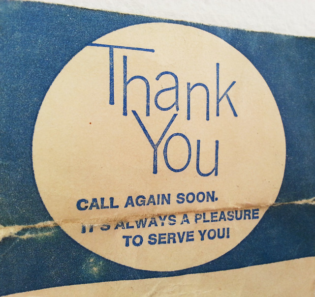 Thank You CALL AGAIN SOON