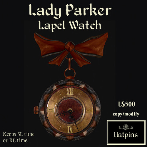 Lady Parker Lapel Watch Advert