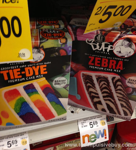 Duff Zebra and Tie-Dye Premium Cake Mix