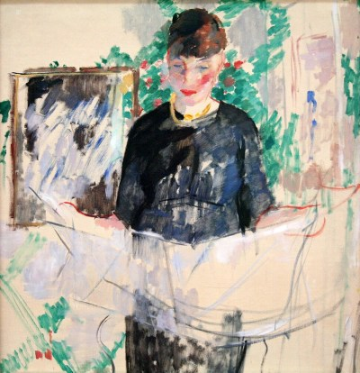 Rik Wouters, Woman in Black Reading a Newspaper, 1912