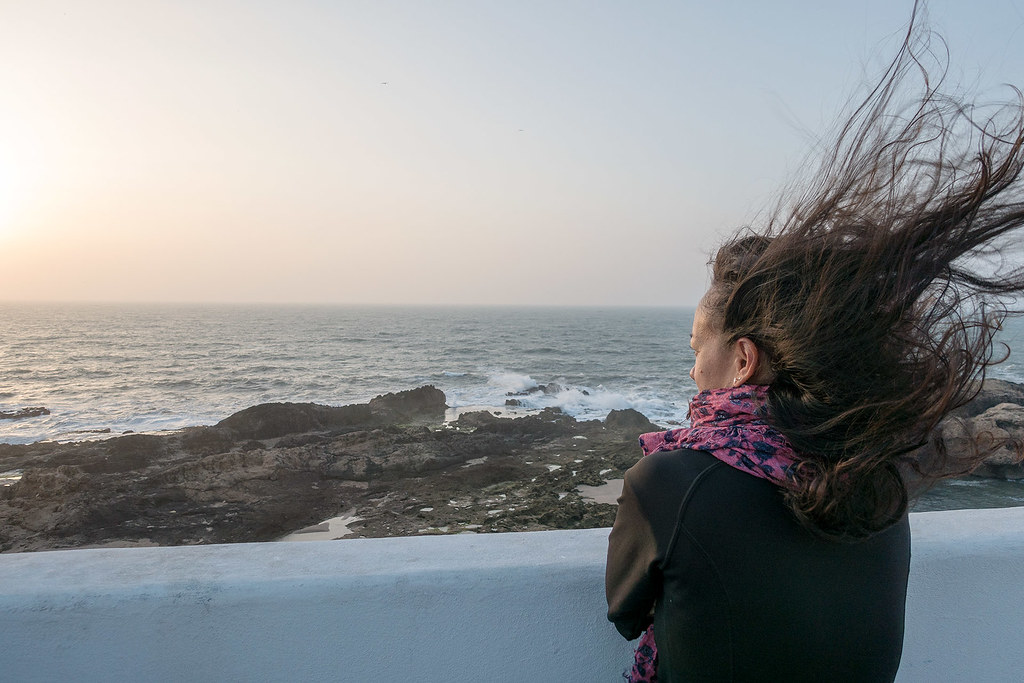 Looking out over the Atlantic Ocean, Essaouira.