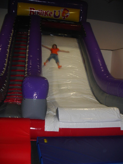Giant slide at BounceU Fishers