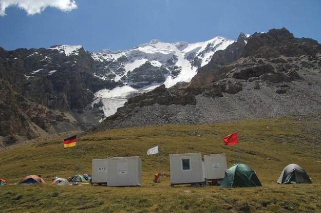 Merzbacher Station. South Inylchek Glacier Trek