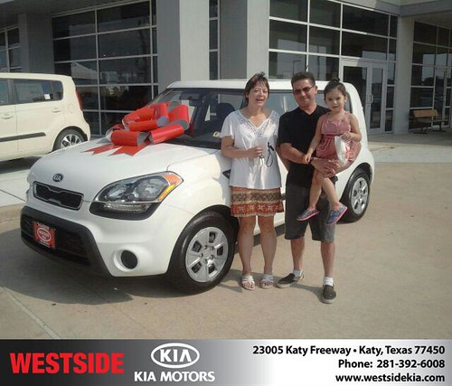 Thank you to Darlene Ochoa on your new 2013 Kia Soul from Gil Guzman and everyone at Westside Kia! by Westside KIA