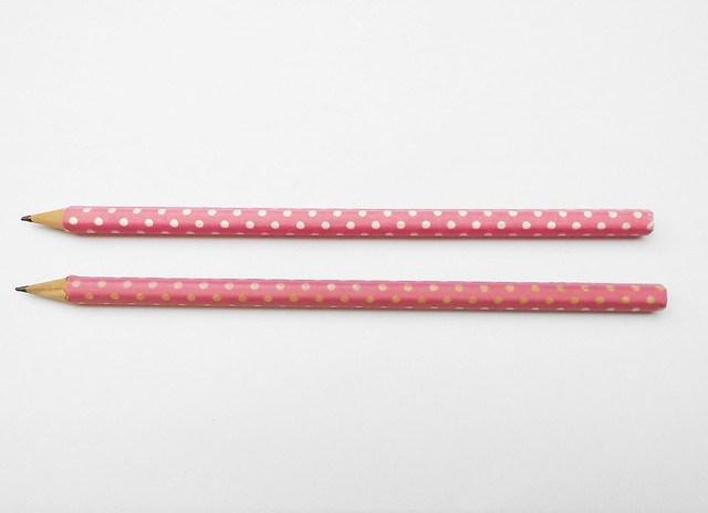 Washi tape pencil 08