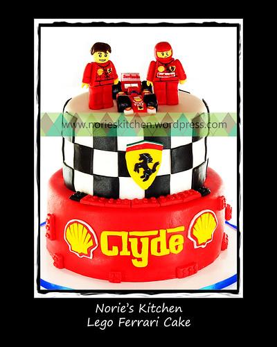 Norie's Kitchen - Lego Ferrari Cake by Norie's Kitchen