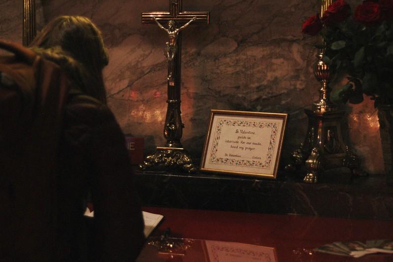saint valentine's altar