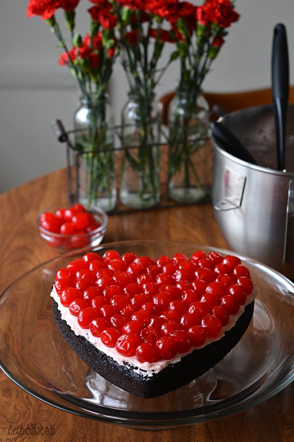 Dark Chocolate Cherry Cake - bethcakes.com