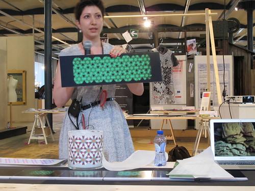 Smart Textiles Salon - Dreaming-Vase by Marjan Kooroshina of Swedish School of Textiles, University of Borås