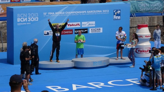 Brian Ryckeman (BEL) silver winner in the BCN2013 men's 25K