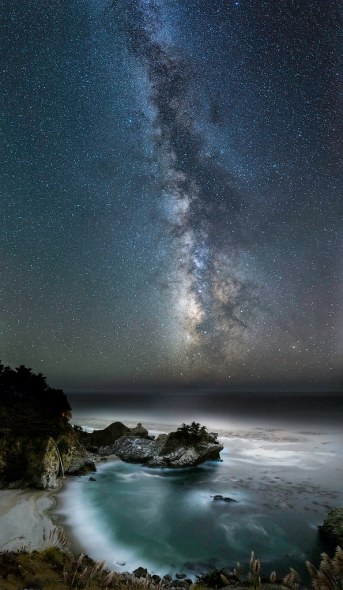 McWay Cove Under the Milky Way