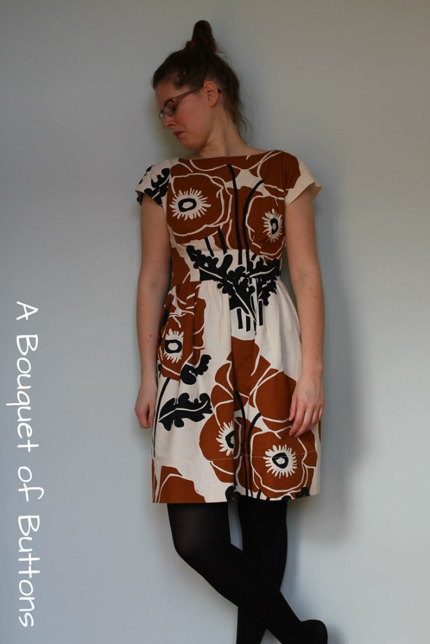 Anna dress, By hand London, curtain, gordijn, jurk, dress, blooper
