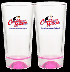 Caribbean Wave Branded Cocktail Glasses