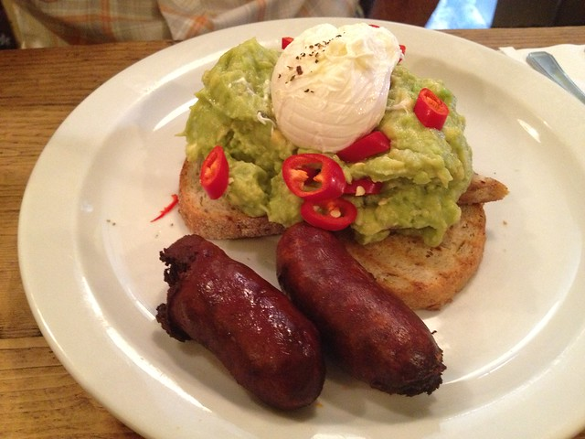 Avocado and poached egg - The Breakfast Club