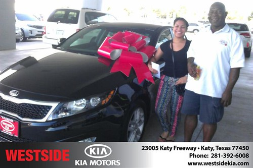 Thank you to Ivan Forrest on your new 2013 Kia Optima from Orlando Baez and everyone at Westside Kia! by Westside KIA