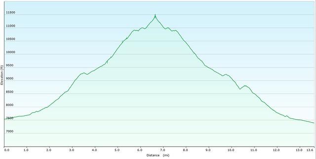 Mt. Rosa Elevation Graph
