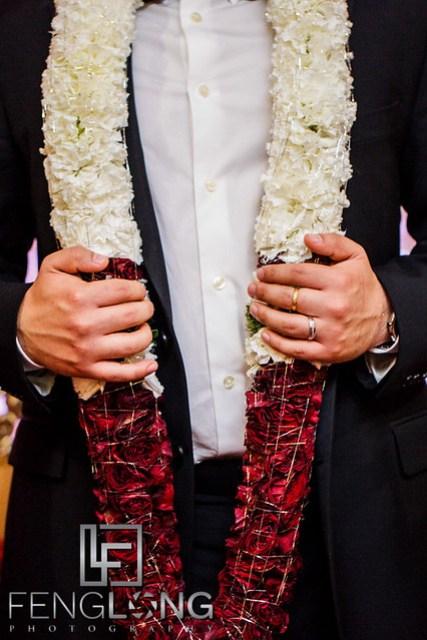 Groom and his wedding garland