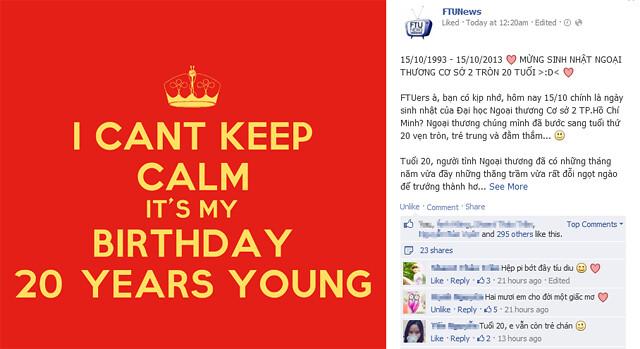 FTUers sôi nổi chúc mừng Ngoại thương tròn 20 tuổi