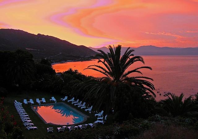 Very strange sunrise! EDEN ROC Hotel near Ajaccio - CORSICA