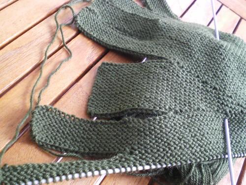 Tricot facile - Gants tricotés au point mousse à 2 aiguilles pour adultes (5/6)