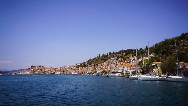 Approaching Poros Town