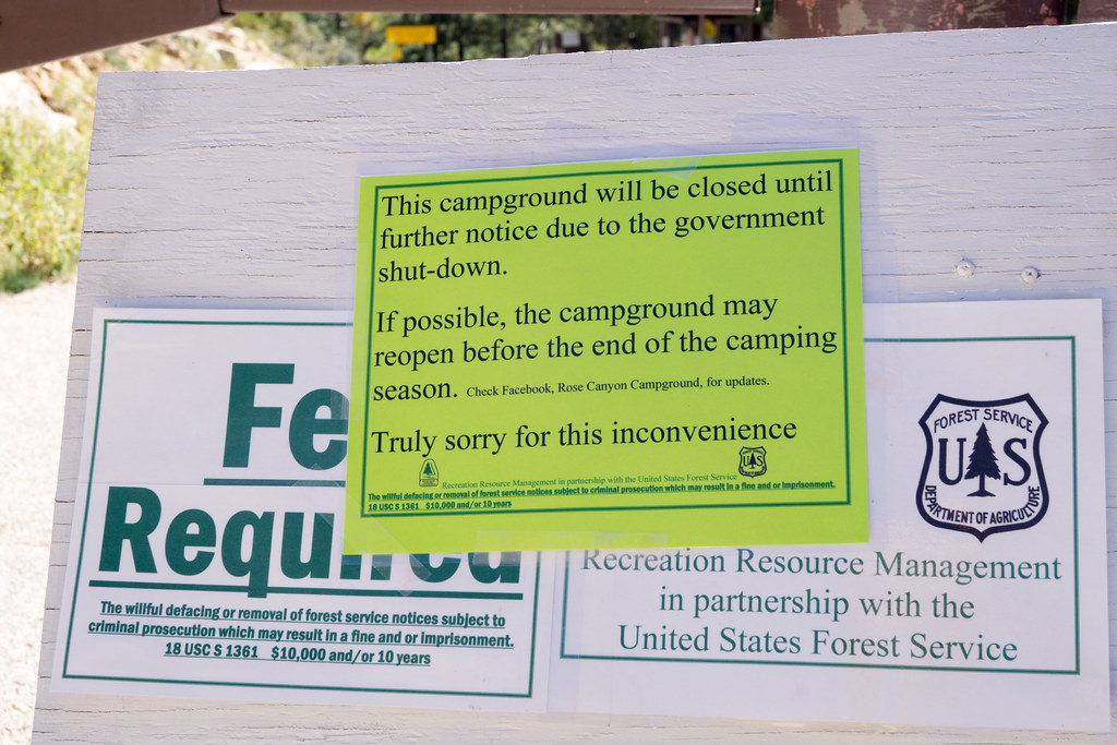 1310 Spencer Campground Closed