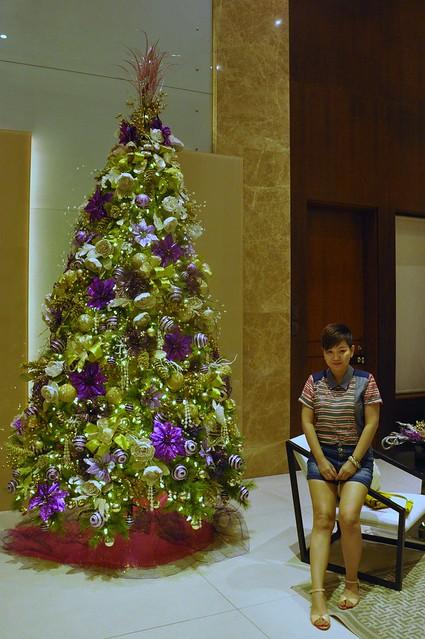 Lime and Purple Christmas Tree