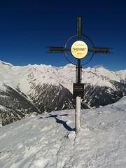 "Gipfelkreuz Gornerberg ""Henne"" 2.474 m"
