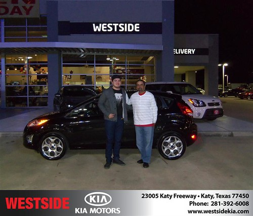 Happy Anniversary to Jose L Rodriguez on your 2011 #Ford #Fiesta from Guzman Gilbert and everyone at Westside Kia! #Anniversary by Westside KIA