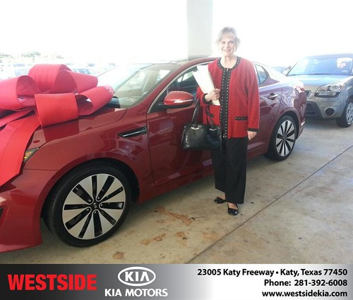 Thank you to Rosalie Adams on your new car  from Rubel Chowdhury and everyone at Westside Kia! #NewCarSmell by Westside KIA