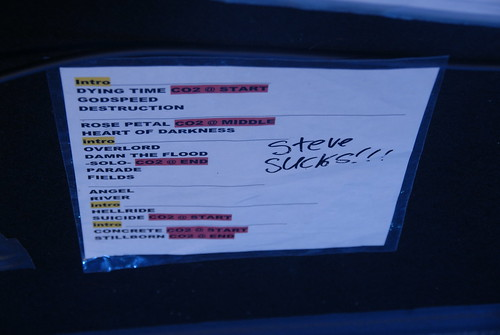 May 4, 2014 Black Label Society set list