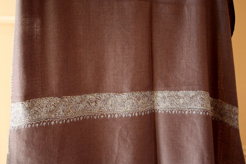 India Pashmina with hand stitching