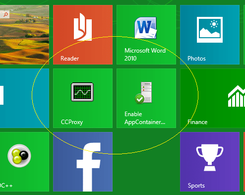 How to run Windows 8 Apps (Modern UI) Store behind College Proxy server. (1/2)