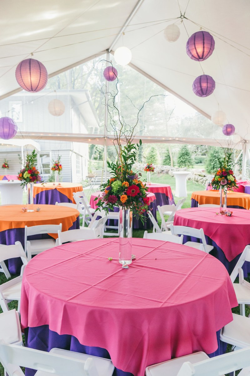 Simple but colorful decorations