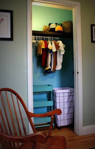 20131123. Finished nursery closet!