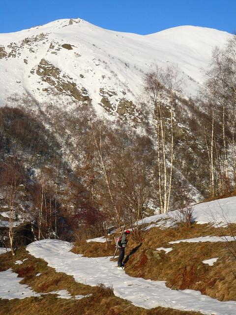Uja di Corio Marco, dubbioso circa la neve