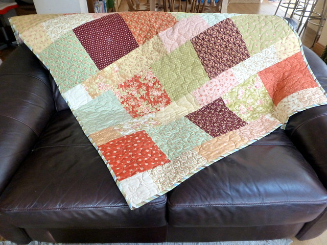 My lovely quilt from Trudi!