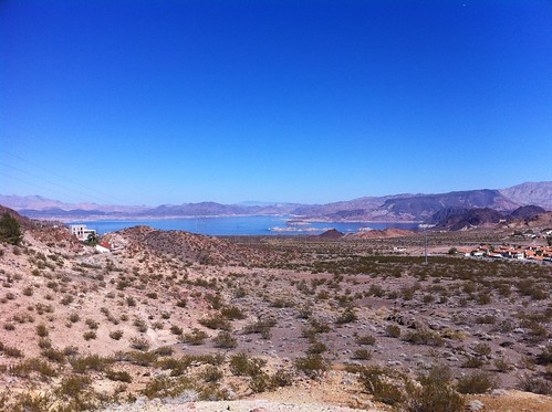 view of lake mead from hemenway park in boulder city, NV